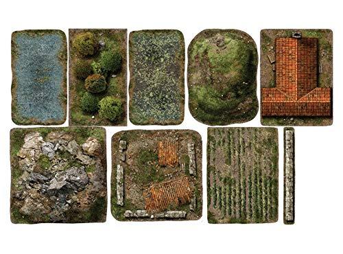 playmats.eu Set The 9th-Age - Set de Torneo Completo de Zonas 2D