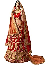 Swara Fashion Women's Banglori Silk With Blouse Piece Lehenga Choli(SFA-1658-B_Red)