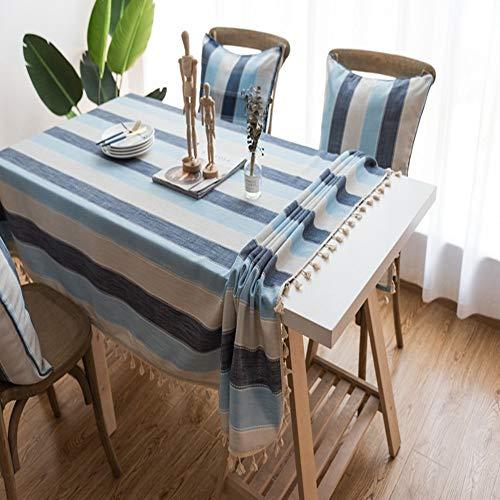 WESYY Tischdecke Tischwäsche Pflegeleicht Tischtuch für CouchtischPolyester stripe02 130x130cm -