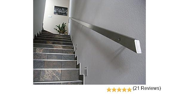Inoxlm Rampe rectangulaire en acier inoxydable de 40/x 20/mm gris