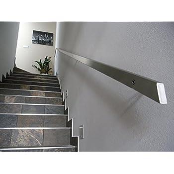 L/änge: 120 cm geb/ürsteter Edelstahl Belastung bis 80kg Handlauf Durchmesser 20 mm komplett