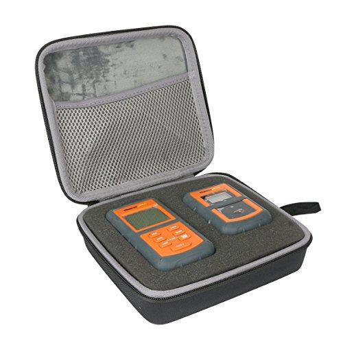 co2CREA Hart Reise Schutz Hülle Etui Tasche für ThermoPro TP20 / TP07 / TP08 Digital Funk Bratenthermometer Grillthermometer (Schwarz 2) Digitale Reise-tasche