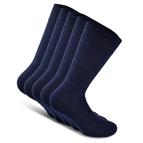 Snocks Herrensocken Socken Herren Blau 47-50 47 48 49 50 Blaue Baumwollsocken Socks Baumwolle Business Männer Lange Strümpfe Casual Herrenstrümpfe Dünne Anzugsocken Größe Anzüge Anzug Soken Gr. Gr