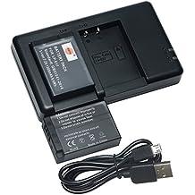 DSTE 2PCS LP-E17(1300mAh/7.2V) Batterie Chargeur Kit pour Canon EOS M3 M5 77D 750D 760D 8000D 9000D Kiss X8i Rebel T6i T6s,EOSRebelSL3(EOS250D/EOSKissX10) Digital SLR Caméras