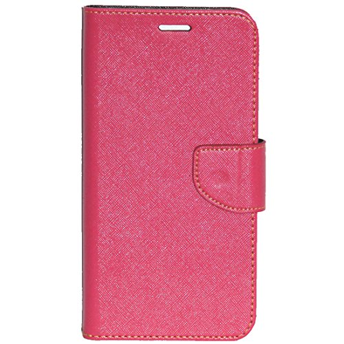 Zaoma Diary Wallet Type Flip Cover for Micromax Canvas Mega 2 Q426 Q426+ - Pink