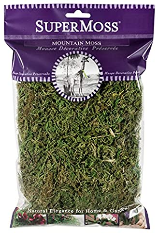 SuperMoss (23800) Mountain Moss Preserved, Fresh Green, 2oz