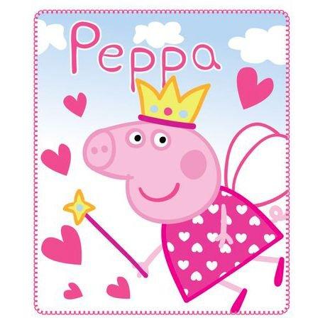 Coperta Peppa Pig.Coperta Plaid In Pile Peppa Pig Peppa Fatina