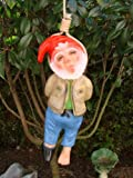 Gartenfigur Zwerg erhängt H 40 cm