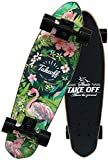 NMDD 27-Zoll-Skateboards Komplettes hochflexibles Cruiser-Board für Anfänger oder Profis mit hochfesten PU-Rädern (220 Pfund)