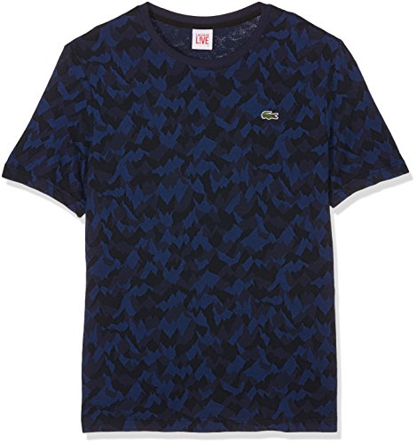lacoste-lve-t-shirt-homme-bleu-marine-multico-x-small-taille-fabricant-2