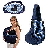 MIOIM Neugeborene Baby Baumwolle Einstellbar Carrier Babytragetuch Tragehilfe Babyträger Wrap Bauchtrage