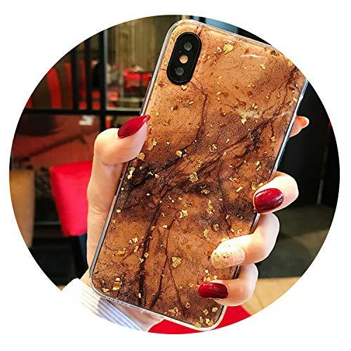 auguce Goldfolie Bling Marmor für iPhone X XS Max XR Telefon Fall weicher TPU-Abdeckung für iPhone 7 8 6 6s Plus-Funkeln-Fall, T2, für iPhone 6 6s