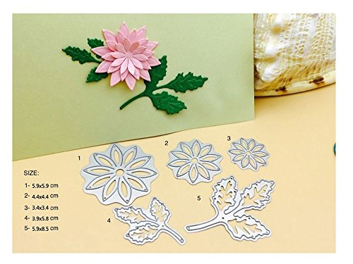 2pcs Blumen Hintergrund Stanzschablonen Kohlenstoffstahl Schneiden Schablonen DIY Sammelalbum Set Scrapbooking Papier Karten