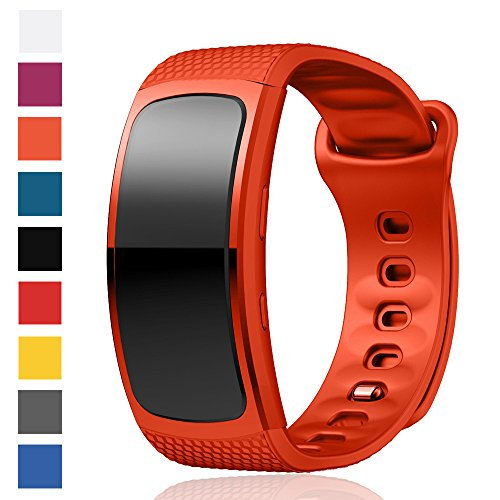 Cyeeson Samsung Gear Fit 2 SM-R360/ Fit 2 Pro SM-R365 Uhr Replacement Armband Weiche Silikon Farbe Adustable Band Gel Wristband Strap Watch Band für Samsung Gear Fit 2 SM-R360/ Fit 2 Pro SM-R365 Watch (Tory Gelee Burch)