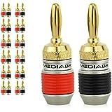 Mediabridge Banana Plugs - Corrosion-Resistant 24K Gold-Plated Connectors - 12 Pair/24 Banana Plugs (Part# SPC-BP2-12 )