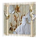 Wapel 3D Blackout Vorhänge Europäischen Stil Kleine Engel Kinderzimmer Vorhänge Luftschattierung UV Vorhänge Für Wohnzimmer Dekoration H245 * W220cm