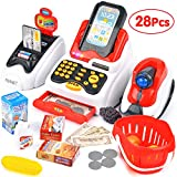 Victostar Toy Till for Kids Pretend & Play Supermarket Cash Register Set