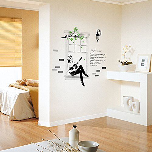 easy-instant-decoration-wall-sticker-decal-audrey-windowsill-guitar-song-serenade