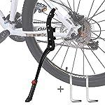 DIAOCARE-Cavalletto-per-Bici-Cavalletti-per-24-29-Bicicletta-Regolabile-Lega-Biciclette-Cavalletto-Laterale-Bici-con-Piede-in-Gomma-per-MTB-Bici-da-Strada-Biciclette-Pieghevoli-Antiscivolo