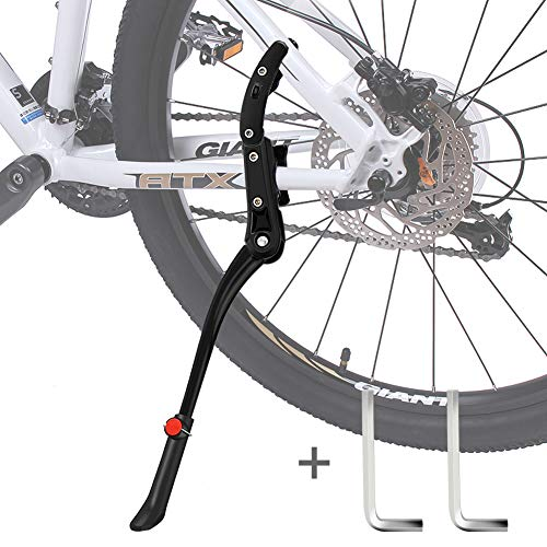 DIAOCARE Fahrradständer, Seitenständer Fahrrad Universal Aluminiumlegierung Fahrrad Ständer Rutschfester Gummiständer für 24-29 Zoll, Mountainbike, Rennrad, Fahrräder und Klapprad, Höhenverstellbar
