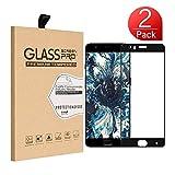 Protection écran OnePlus 5, SunFay Film Vitre [Couverture Complète] [2 Pack] Verre Trempé Tactile Ultra Transparent Résistant aux Rayure Easy-Install pour OnePlus 5 - Noir
