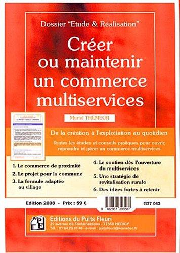 Crer ou maintenir un commerce multiservices
