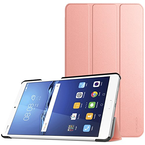 MoKo Huawei MediaPad M3 8.4 Hülle - Ultra Slim Lightweight Schutzhülle Smart Cover Standfunktion für Huawei MediaPad M3 8.4 2016 Tablet-PC perfekt geeignet, Rose Gold