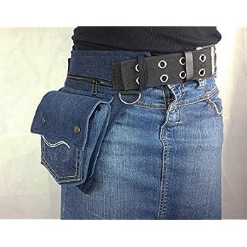 Hüfttasche hergestellt aus eine blau recyclede Jeans, bei Hipsypixie