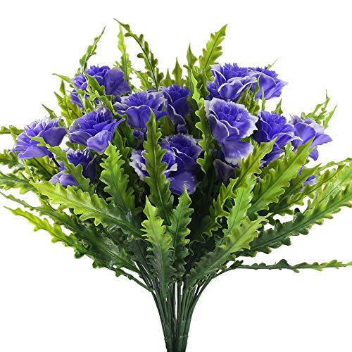 Nahuaa Künstliche Blumen lila 4 Stücke Kunstblumen Blumensträuße Dokoration Pfingstrose künstlich für Hochzeit Wohnung Balkon Garten Büro