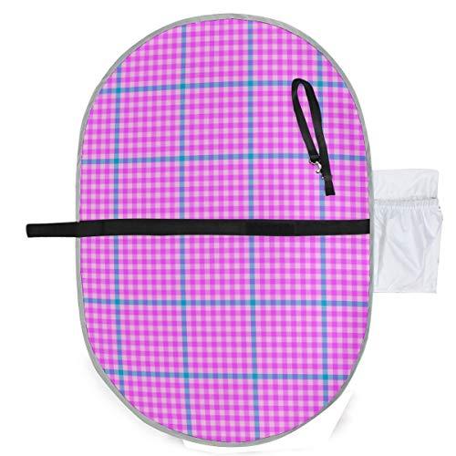 Urine pad Portable Diaper Changing Mat,Tartan Check Heroic Pink Cyan Mattress Sheet Protector Pee Pads Urine Mat for Baby -