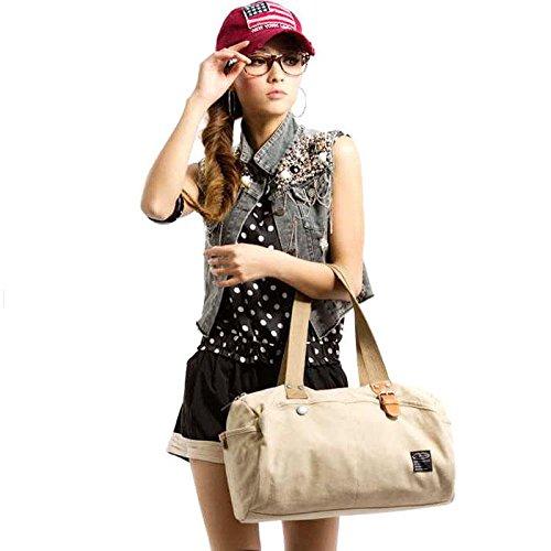 &ZHOU femminile borsa di tela borsa a tracolla grande capacità zaino Messenger Messenger bag di svago di modo 40 * 20cm , beige beige