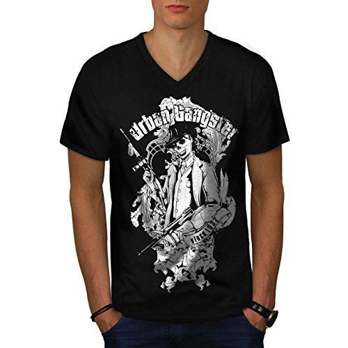 Sexy Mob Kostüme (Städtisch Mafia Cool Gangster Mob Kader Herren M V-Ausschnitt T-shirt |)