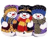 7 Modell Weihnachten Knüpfteppich Formteppich für Kinder und Erwachsene zum...