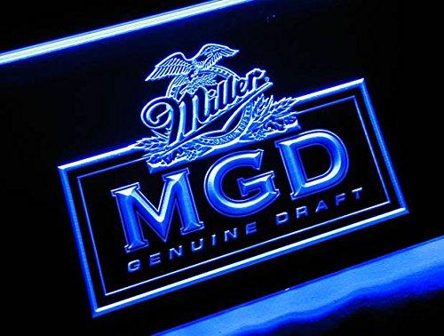 MGD Miller Beer NEON 3D Neonschild LED Neu Schild Reklame Werbung Bier (Led Schilder, Bier)