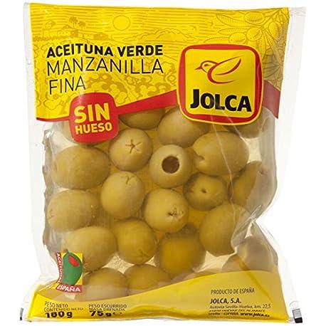 Jolca Aceitunas Manzanilla Verdes Sin Hueso Bolsa 180 g