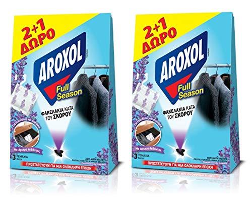 2 x Anti-Moth tablettes/Sachet Packs agréable Parfum de Lavande pour vêtements Tissu 2 + 1 Gratuit - Durer jusqu'à 6 Mois