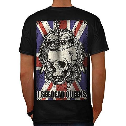 Schädel Tot Königin Metall Vereinigtes Königreich Skelett Vereinigtes Königreich Herren M T-shirt Zurück | Wellcoda