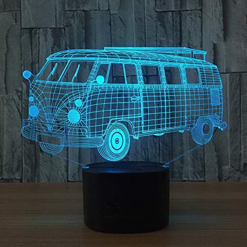 Lampada da tavolo RGB da tavolo a LED da 7 colori Visual Light 7 luci acriliche per auto Lampada da tavolo per regalo di compleanno per bambini han-8881