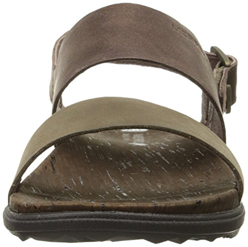 Merrell Around Town Backstrap, Sandales  Bout ouvert femme Brown/Green