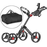 CaddyTek Carrito de golf 4 ruedas empuje cart Superlite Explorer con bolsa de almacenamiento-gris oscuro