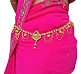 #2: Traditional gold polished kamarpatta, Kamar chain, Kardhani, bellychain, waist chain, hip chain, Kamarband, pearl design ottiyanam vaddanam waistchain, ottiyanam gives women and Girls a stylish look