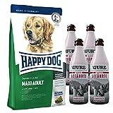 Happy Dog Maxi Adult 15 kg + Gratis 4 x TJURE Treuer Gefährte Flüssignahrung