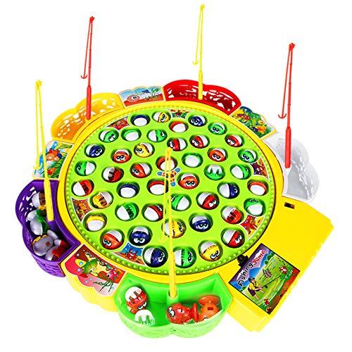 Sulifor Kinder Kinder pädagogisches Eltern-Kind interaktives Spielzeug, Kinder Baby niedlichen magnetischen Spielzeug intellektuellen Angeln Werkzeuge automatische Musik Fisch Spielzeug