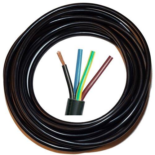 10m Neopren Kabel für Klimaanlage 4x1-5mm² Klimagerät Verlängerungskabel