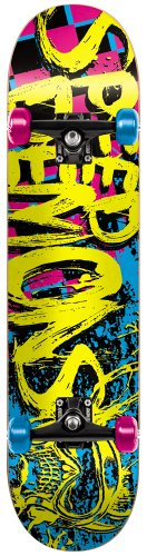 Speed Demon 11614114 Speed D Full 100 Logo Skateboard complet Multicolore