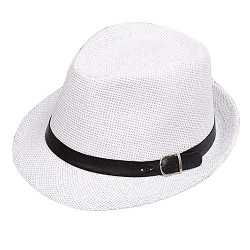 CFHJN-hat Home Einfarbig Kind Erwachsene Sommer Sonne Modernen Hut Lässig Zusammenklappbare Strandkappe Strand Urlaub Safari Panama Hut Schirmmütze (Color : 2 Whites, Size : S) Safari Panama