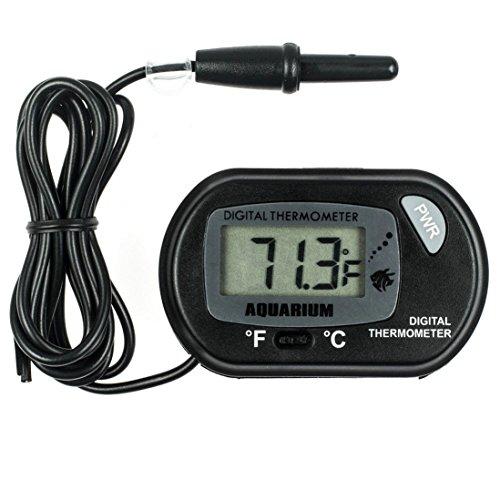 GuDoQi Digital LCD Thermometer Fisch Aquarium Marine Vivarium Thermometer Pet Box Sauger Aufkleber 50 °C Bis 70 °C