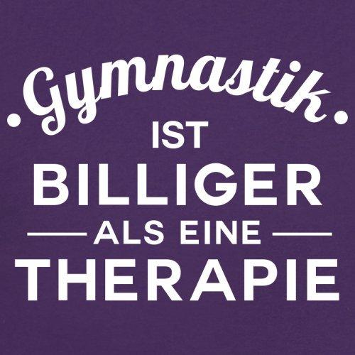 Gymnastik ist billiger als eine Therapie - Damen T-Shirt - 14 Farben Lila