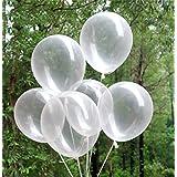 50 Luftballons für Party Deko | Durchsichtige Transparente Ballons für Geburtstag Sommerfest Hochzeit Kinderparty Pool Party Dekoration | Kristallklare Ballone | Gute Qualität | Beyond Dreams
