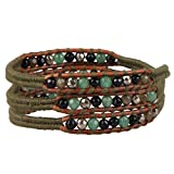 KELITCH Jade Agate Crystal Beaded Bracelets Handmade 3 Wrap Bracelet New Charm Jewelry
